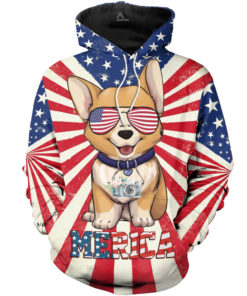 Corgis Dog Merica 3d All Over Printed Shirts For Men And Women