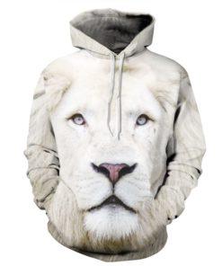 White Lion 3d Hoodie