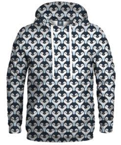 Penguin Pattern Pullover 3d Hoodie