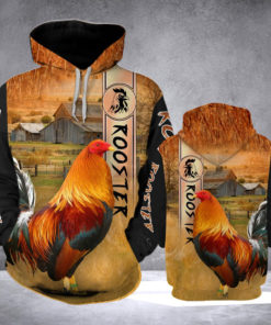 Rooster Ranch Grass 3d Print Hoodie