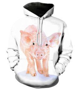 Animal Pig 3d Hoodie
