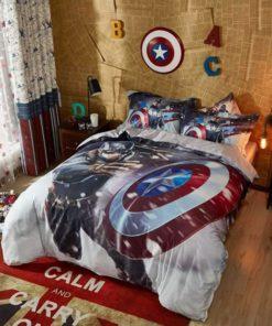 Bedding Set Captain America Marvel Comics Bed In A Bag
