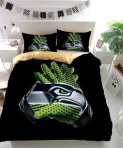 Nfl Seattle Seahawks Gloves Custom Duvet Cover Bedding Set