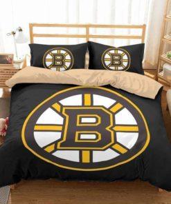 Boston Bruins Duvet Cover Bedding Set