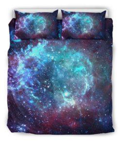 Starfield Nebula Galaxy Space Print Duvet Cover Bedding Set