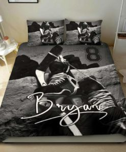 Ice Hockey Personalized Custom Duvet Cover Bedding Set With Signature And Number