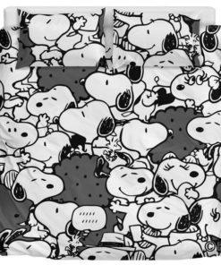 Black Snoopy - Bedding Set (Duvet Cover & Pillow Cases)