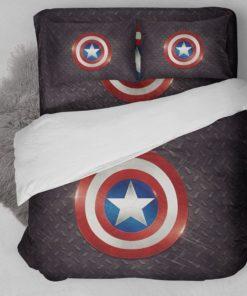 Captain America Logo Bedding Set (Duvet Cover & Pillow Cases)