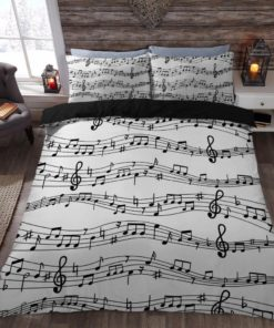 Music Note Printed Bedding Sets (Duvet Cover & Pillow Cases)