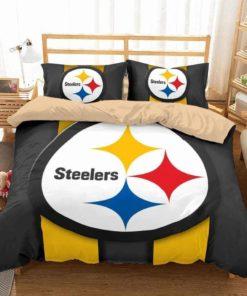 3d Pittsburgh Steelers Duvet Cover Bedding Set