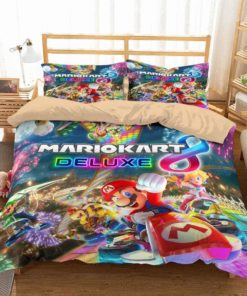 3d Mario Kart Duvet Cover Bedding Set