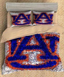 3d Auburn Tigers Duvet Cover Bedding Set