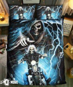 Skull Ride Or Die #0919-5 Bedding Set Cover (Duvet Cover & Pillow Cases)