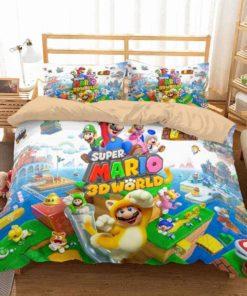 3d Super Mario World Duvet Cover Bedding Set
