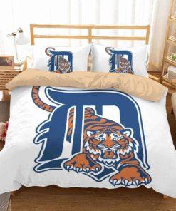 3d Detroit Tigers Duvet Cover Bedding Set 1