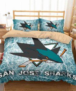 3d San Jose Sharks Duvet Cover Bedding Set