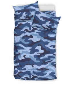 Camouflage Blue Camo Urban Bedding Set (Duvet Cover & Pillow Cases)