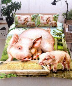 Pig Cotton Duvet Cover Bedding Sets