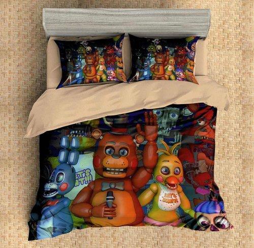 five nights at freddy 3d duvet cover bedding set  karikshop