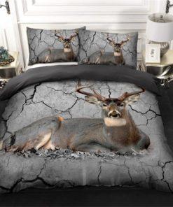 Hunting Deer Go Bedding Set (Duvet Cover & Pillow Cases)