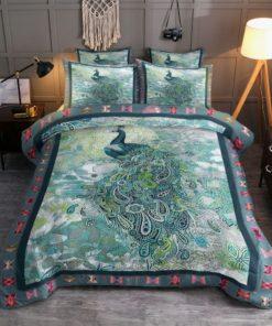 Peacock Art Work Bedding Set (Duvet Cover & Pillow Cases)