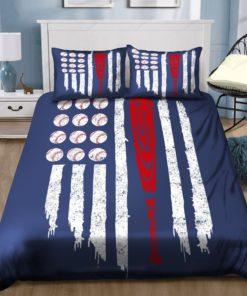 Baseball American Flag Bedding Sets (Duvet Cover & Pillow Cases)