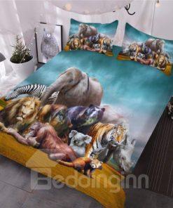 Natural African Safari Animals Bedding Set (Duvet Cover & Pillow Cases)