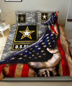 Us Army American Flag Cotton Bed Sheets Spread Comforter Duvet Cover Bedding Sets