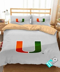 Ncaa Miami Hurricanes 1 Logo V 3d Duvet Cover Bedding Sets