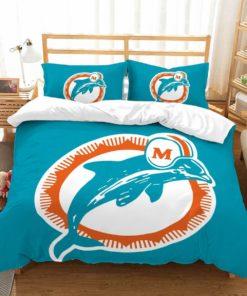 3d Miami Dolphins Duvet Cover Bedding Set